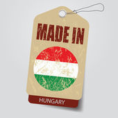 Made in Hungary . Tag . — Stock Vector