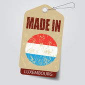 Made in Luxembourg . Tag . — Stock Vector