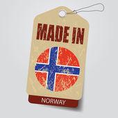 Made in Norway . Tag . — Stockvektor