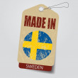 Made in Sweden . Tag . — Stock Vector #40520297