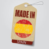 Made in Spain . Tag . — Stock Vector