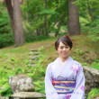 Japanese Woman in a Kimono - Stock Photo
