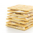 Royalty-Free Stock Photo: Crackers with Cream Cheese