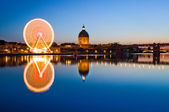 Ferris wheel in the evening in Toulouse — Stock Photo