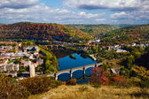 Autumn view from above to Cahors, France — Stock Photo