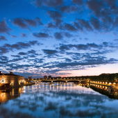 Toulouse, France. Hotel de Ville, Pont Saint Pierre (Saint Pierre bridge). — Stock Photo