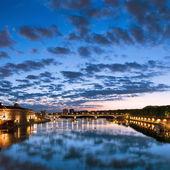 Toulouse, France. Hotel de Ville, Pont Saint Pierre (Saint Pierre bridge). — Stock Photo
