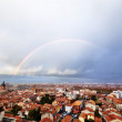 Rainbow above Toulouse — Stock Photo