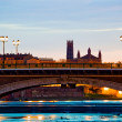 Catalans bridge at sunrise - Stock Photo
