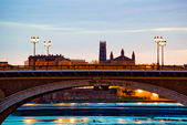 Catalans bridge at sunrise — Stock Photo