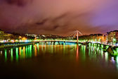 Cloudy night in Lyon, France — Stock Photo