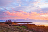 Canet Saint Nazaire lake near Canet plage, Perpignan, France — Stock Photo