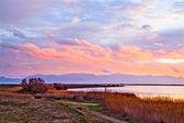 Canet Saint Nazaire lake near Canet plage, Perpignan, France — Stock Photo