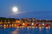 Moon above Pont Neuf — Stock Photo