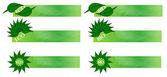Eco and bio banners — Stock Photo