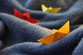 Paper boat — Stock Photo