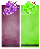 Grape Banners — Stock Photo
