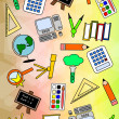 Colourful Education Pattern — Stok fotoğraf