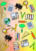 Colourful Education Pattern — Stock Photo