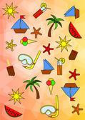 Kleurrijke zomer patroon — Stockfoto