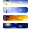 Tree banners — Stock Photo