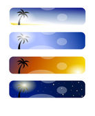 Tree banners — Stock Photo