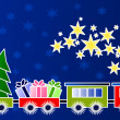 Christmas train — Foto Stock