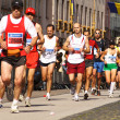Runners on the Kosice peace marathon — Stock Photo