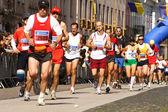 Runners on the Kosice peace marathon — Stock Photo