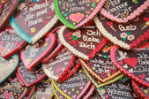 Oktoberfest 2012 - Gingerbread hearts — Stock Photo