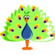 Funny Cartoon Peafowl — Stock Photo #26407573