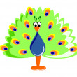 Funny Cartoon Peafowl — Stock Photo