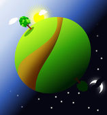 Landscape Globe — Stock Photo
