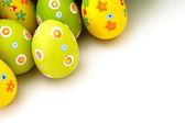 Małe jaja wielkanocne z rogu — Zdjęcie stockowe