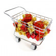 Gifts shopping cart — Stock Photo