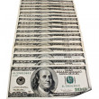 Perspective one hundred dollar bills — Stock Photo