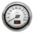 Stock Photo: Chrome speedometer