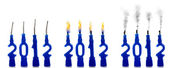 Candle stages of 2012 — Stock Photo