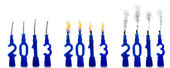 Candles 2013 status — Stock Photo