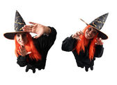 Witch no-spell and spell — Stock Photo