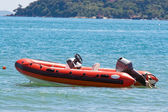 Inflatable boat — Stock Photo