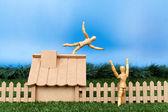 Falso caída de techo — Foto de Stock
