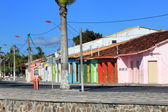 Colored houses in Porto Seguro — Stock Photo
