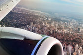 Sao Paulo view from airplane — Stock Photo