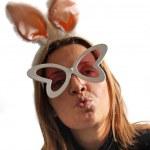 Bunny girl kissing — Stock Photo #12604454