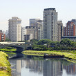Stock Photo: City and river - Sao Paulo, Brazil