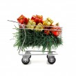 Christmas shopping time - Side view — Stock Photo
