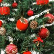 图库照片: Christmas tree ornaments detail