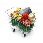 E-commerce Christmas shopping time — Stock Photo