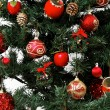 Christmas tree ornaments detail — Stock Photo